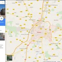 Poitiers dans le nouveau design de Google Maps (10/2015)