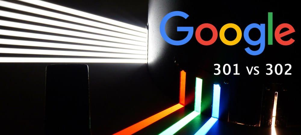 Indexation différente des pages web dans Google s'il s'agit de redirections 302 ou 301