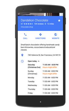 Heures d'ouverture exceptionnelles dans Google My Business