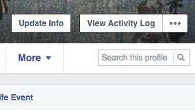 Champ de recherche interne dans les profils et pages Facebook