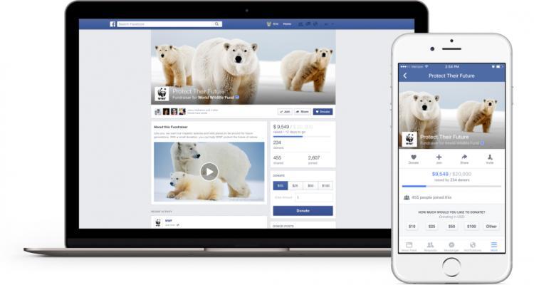 Nouvel espace pour effectuer des dons sur Facebook pour les causes à but non lucratif