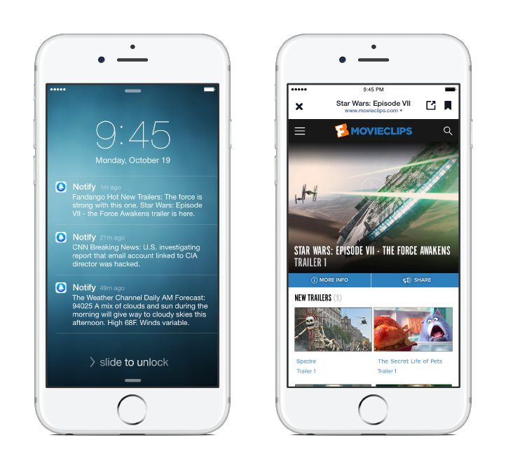Notify, nouvelle app mobile de Facebook