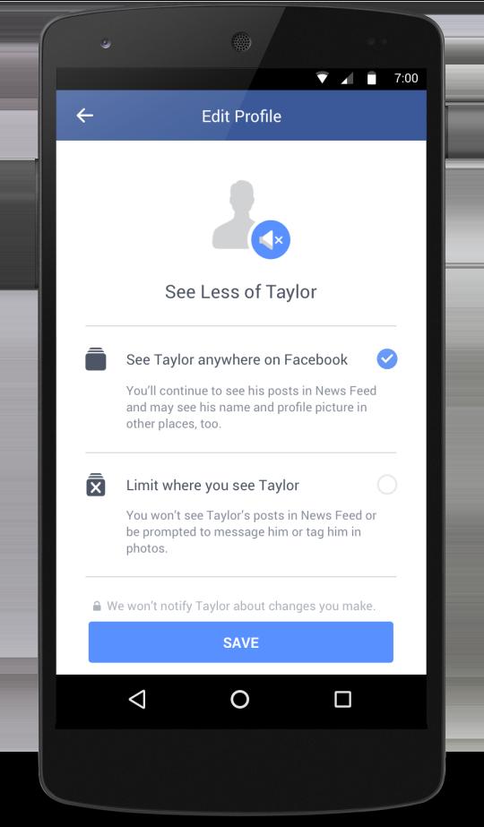 Voir moins de publications d'un ex-partenaire (test Facebook)