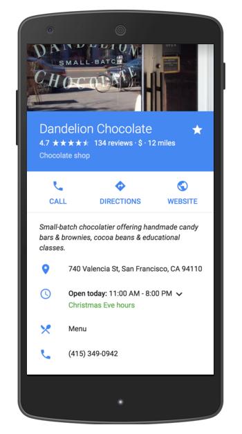 Nouvelle API Google My Business