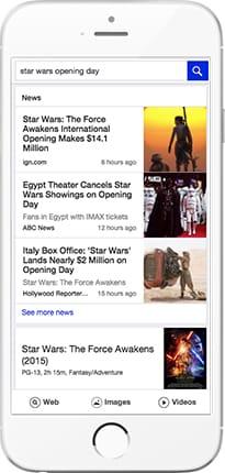 Yahoo affiche en avant les meilleurs actualités les plus récentes sur mobile