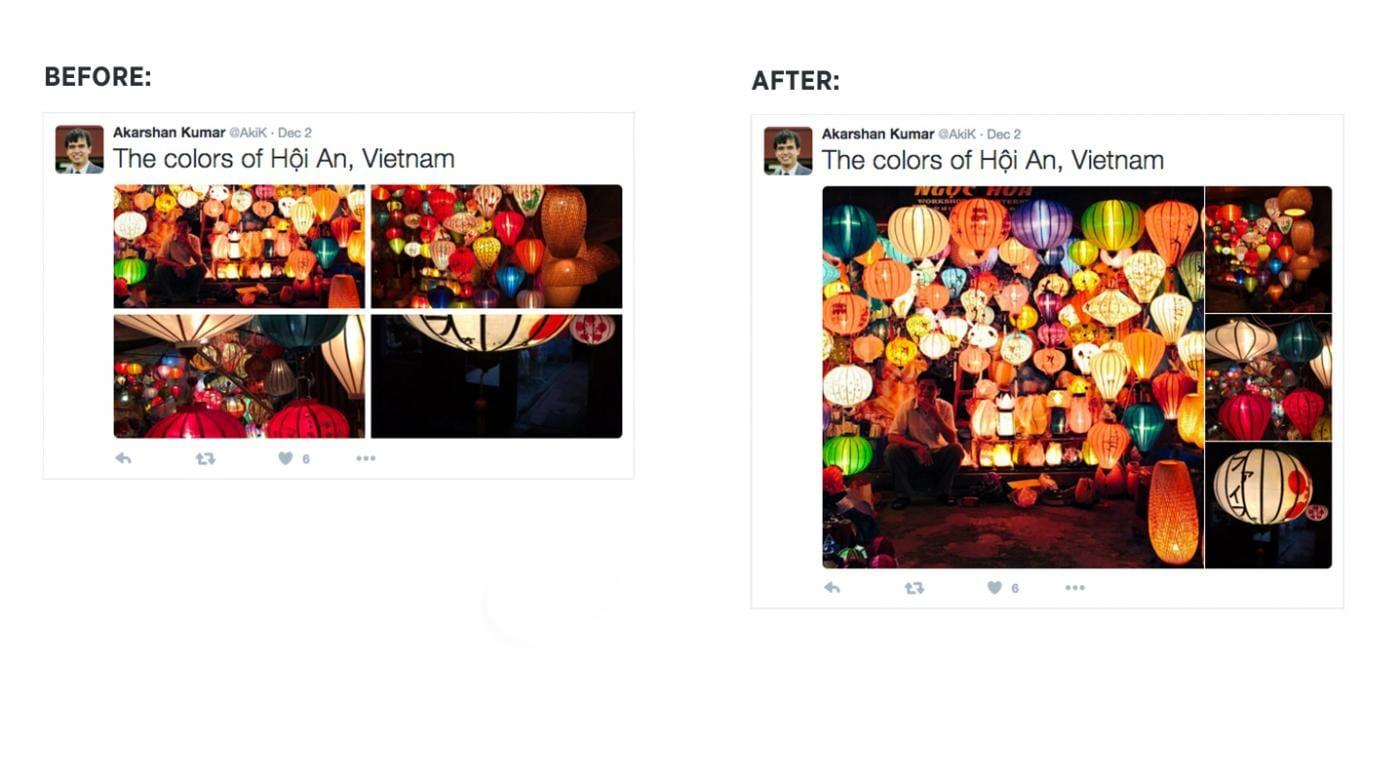 Affichage des photos multiples dans Twitter