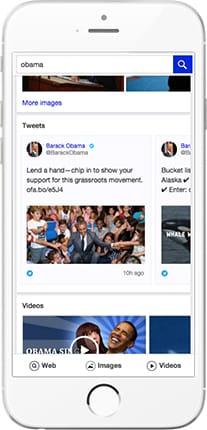 Intégration de Twitter dans Yahoo mobile
