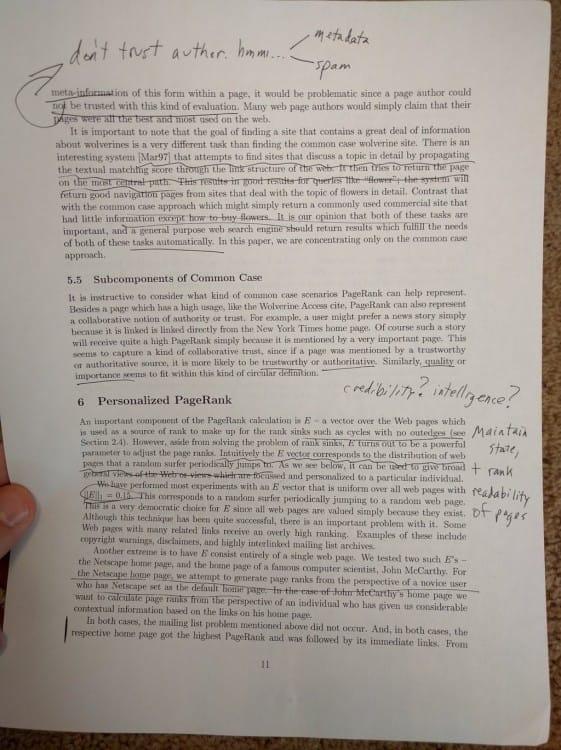 Matt Cutts ressort ses notes sur le PageRank et Google de 1999