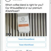 Exemple de tweet sponsorisé avec Conversational Ads de Twitter