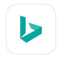 Nouveau logo de Bing vu sur l'Apple Store