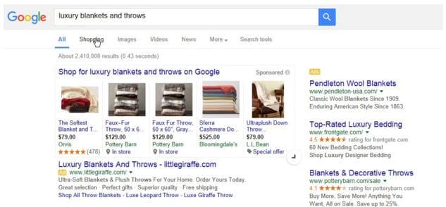 Bouton d'extension jusqu'à 16 résultats de Google Shopping dans les SERP