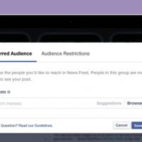 Outil d'optimisation d'audience de Facebook