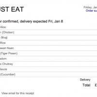Derniers achats de nourriture affichés dans Google