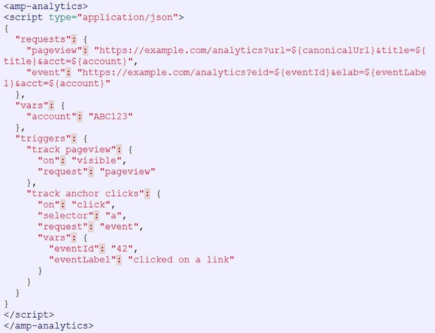 Introduction de la balise AMP-Analytics dans le projet AMP HTML (Google)