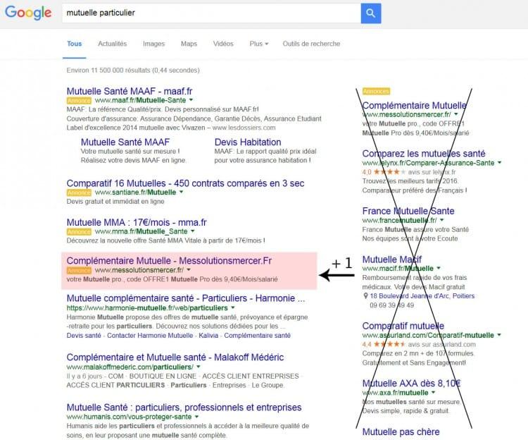 Modifications des Ads (publicités) dans les SERP de Google (suppression des pubs à droite)
