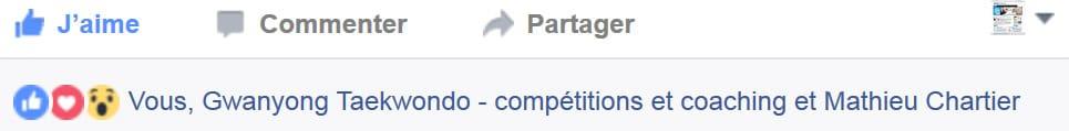 Liste des interactions et réactions sur Facebook avec les nouveaux boutons d'empathie