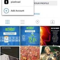 Test de plusieurs comptes connectés à Instagram en même temps sur mobile