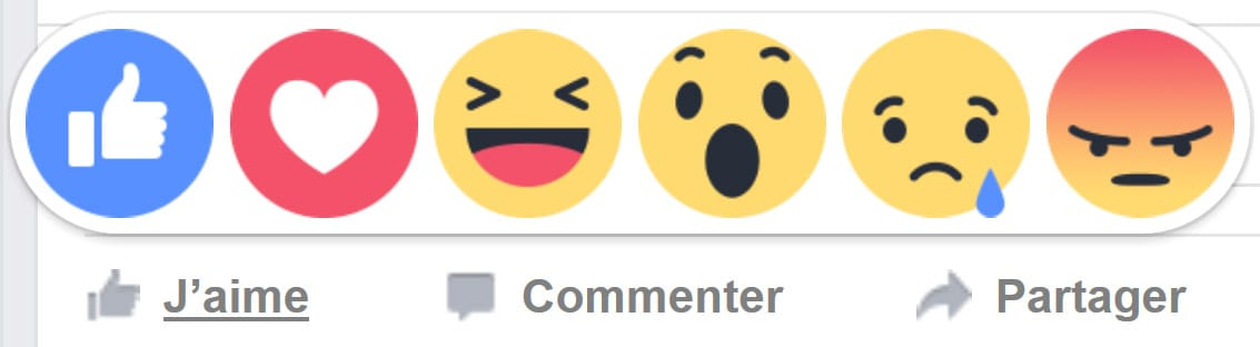 Les boutons d'empathie (Reactions buttons) de Facebook enfin disponibles sur mobile et desktop