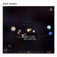 Déplacez-vous dans un système solaire interactif sur Bing