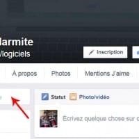 Champ de recherche dans les pages Facebook en France