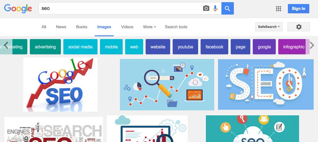 Google ajoute des filtres thématiques colorés dans Google Images