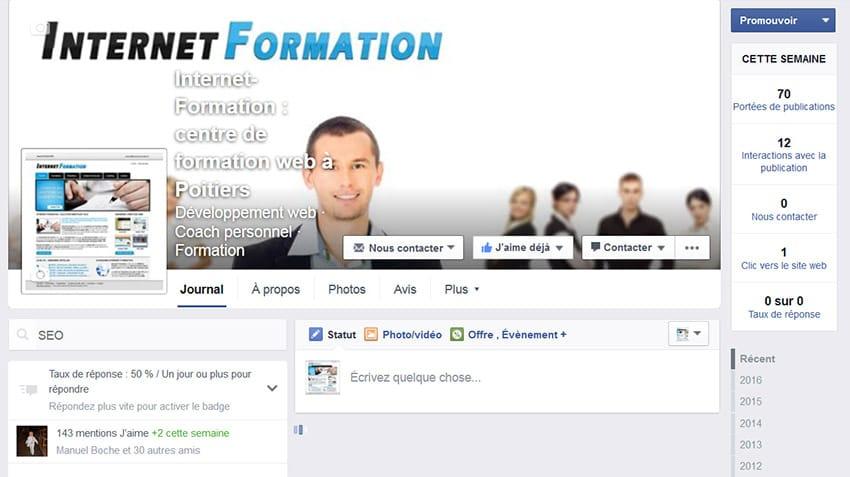 Attente (Ajax) de recherche dans les pages professionnelles de Facebook