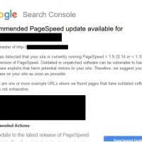 Notification pour le PageSpeed dans la Google Search Console