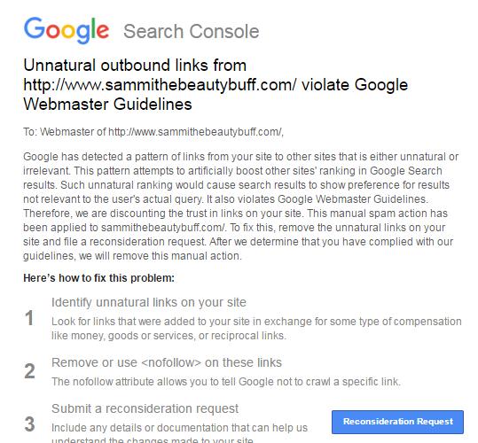 Google pénalise les liens sortants factives, payants ou spammy