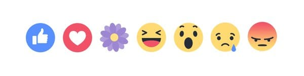Nouveaux boutons éphémères de réactions (emojis) sur Facebook : fête des mères
