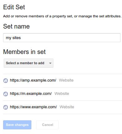 Groupes de propriétés dans la Google Search Console