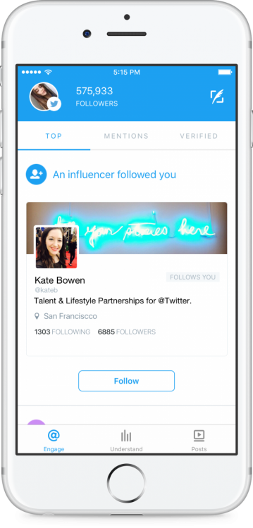 Twitter Engage, une application mobile de Twitter pour suivre les interactions web