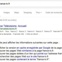 Utiliser la commande info: dans Google pour connaître les url canoniques indexées par le moteur de recherche