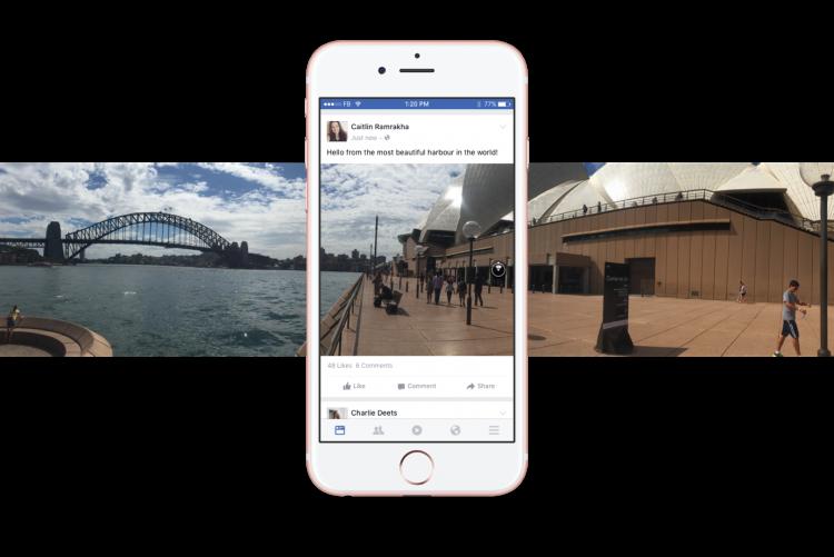 Photo à 360° sur Facebook (photo 3D)