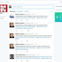 Section sur le suivi des entreprises et comptes de Twitter Dashboard