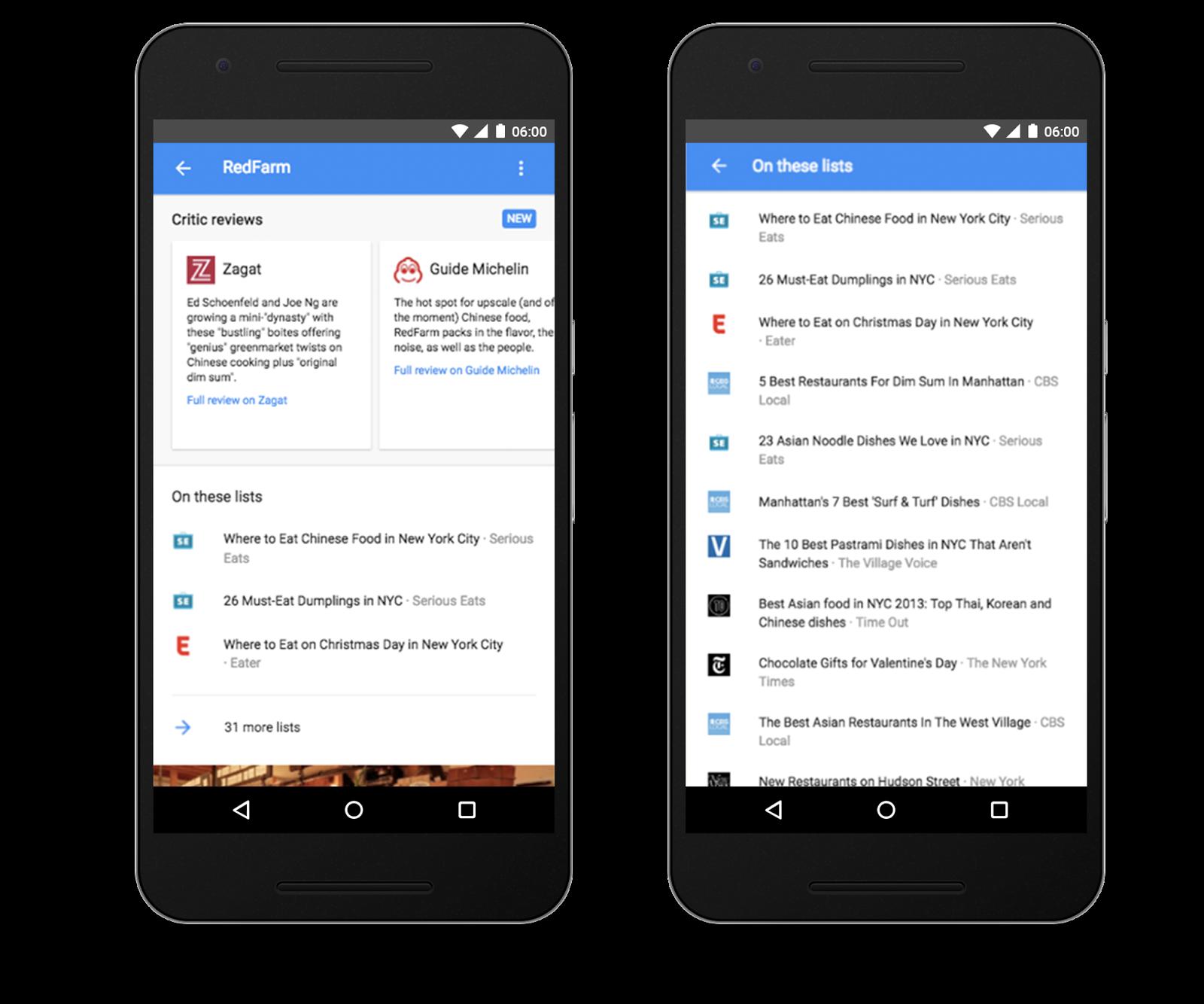 Témoignages de clients dans le Knowledge Graph et les SERP mobiles de Google