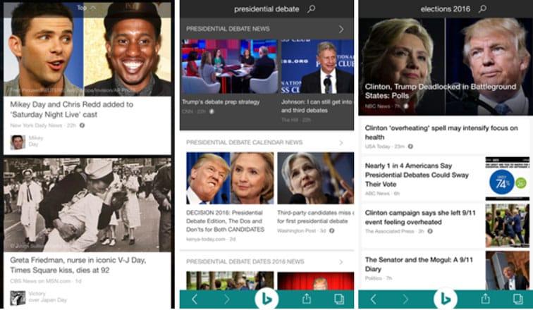 Bing ajoute des contenus en AMP HTML dans son app mobile iOS et Android