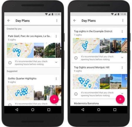 Google Voyages aide aux préparatifs et à la planification des journées de voyage