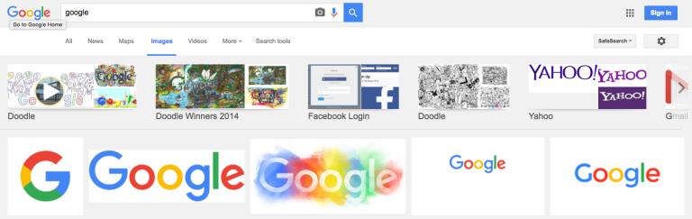 Google Images teste une nouvelle interface