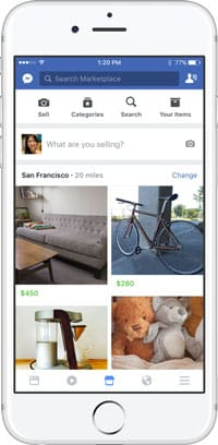 Facebook lance MarketPlace sur mobile