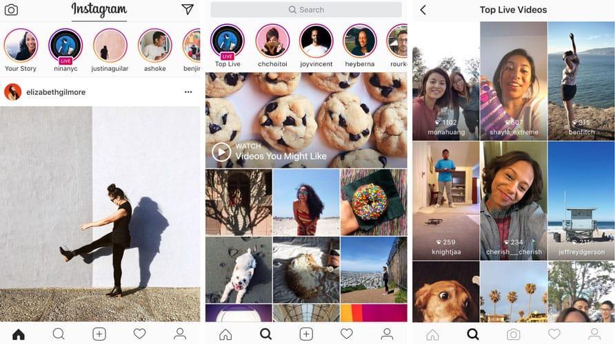 Suivi des vidéos live dans les stories d'Instagram