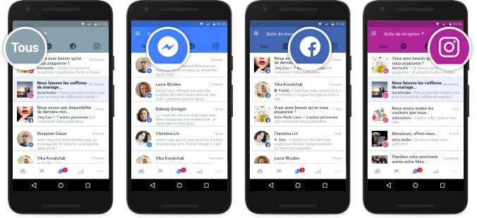 Facebook créé une boîte de réception multicomptes (Instagram, Messenger, Facebook)
