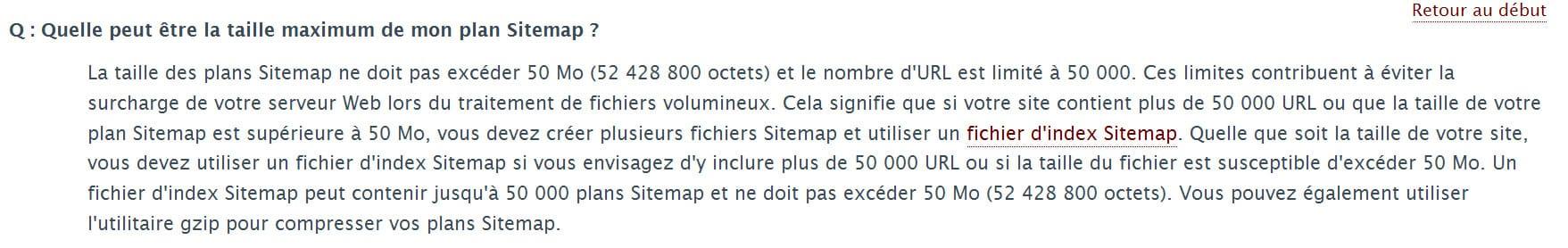 Amélioration de la taille des fichiers Sitemaps XML