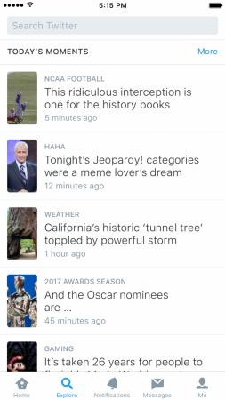 Twitter lance la fonction Explore
