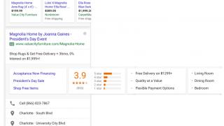 Carousel de plusieurs extensions d'annonces dans Google mobile