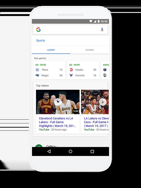 De nouveaux onglets et nouvelles options sur Google App aux Etats-Unis