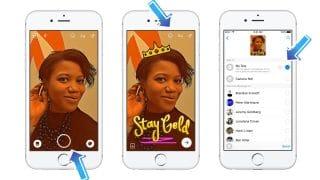 Interface de Messenger Day de Facebook Messenger