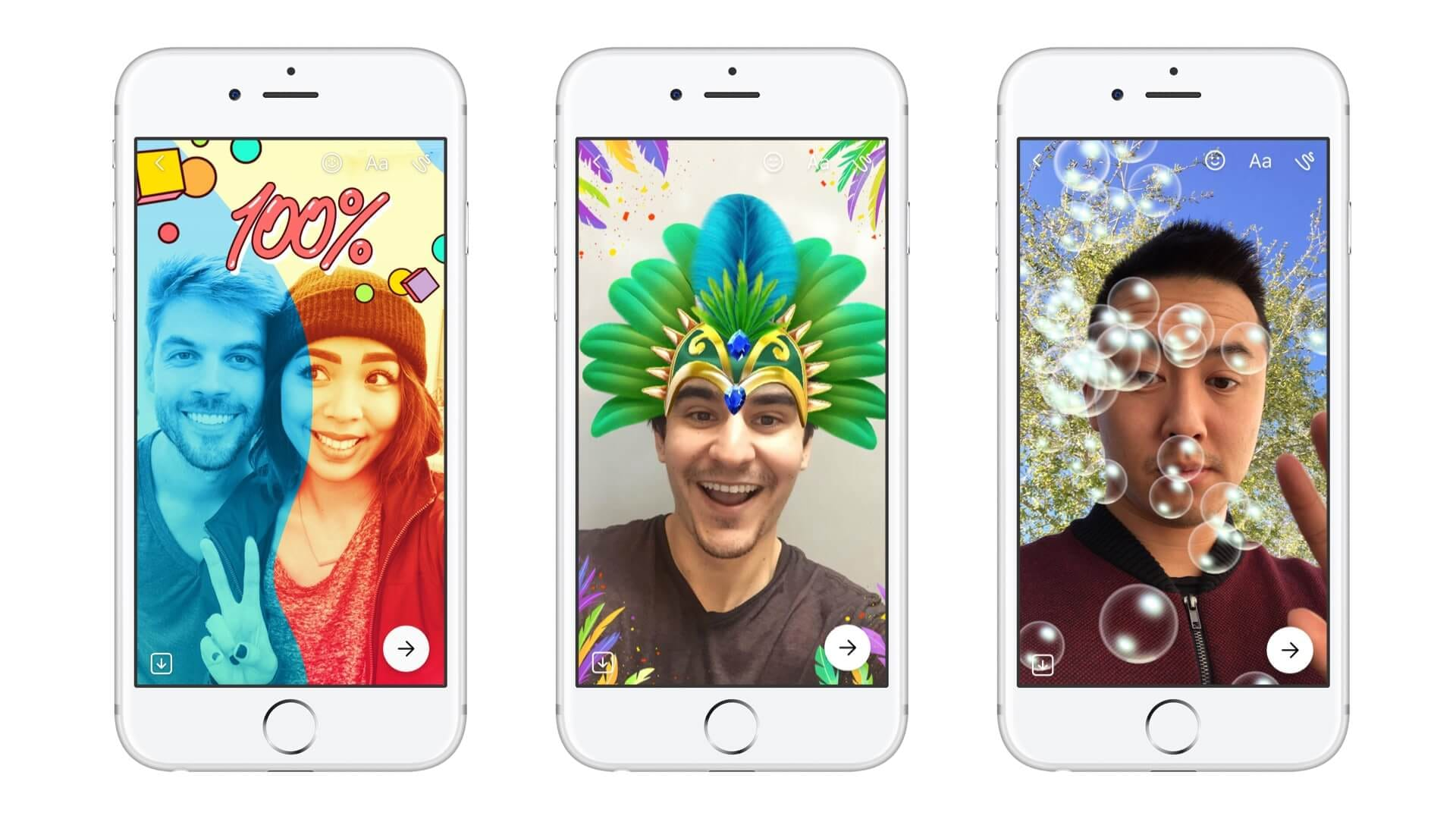 Stickers, emojis et dessins dans les Messenger Days de Facebook Messenger