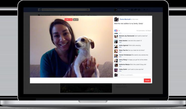 Facebook active Facebook Live et les vidéos en direct sur ordinateur