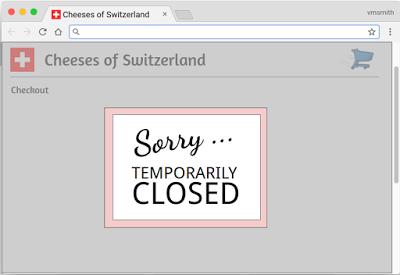Fermeture temporaire d'un site web