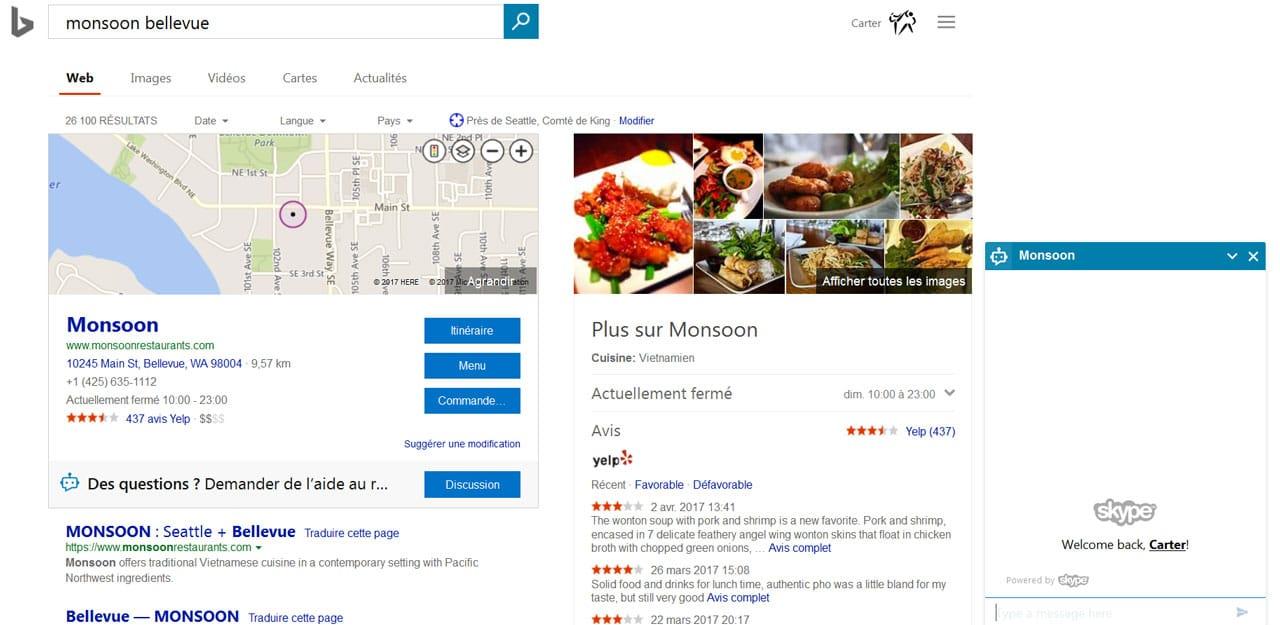 Bing ajoute et teste un ChatBot dans les SERP